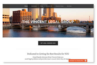 Vincent Legal Group, website copywriting by Maureen Perideaux